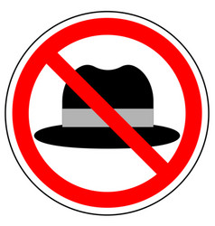 No hat prohibition sign vector