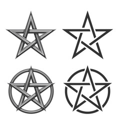 pentagram symbol collection vector image