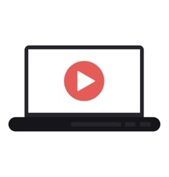 Play inside laptop design vector