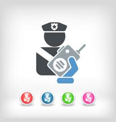 Policeman radio vector