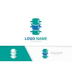 premium spinal diagnostic center logotype spine vector image