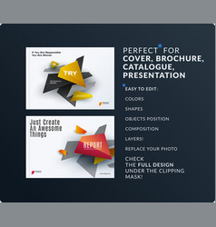 Presentation abstract set of modern vector