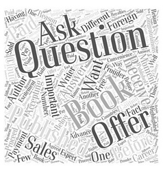 Questions to Ask Publishers Before Accepting an vector