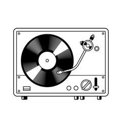Record player turntable coloring book vector