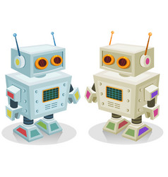 Robot toy for children vector