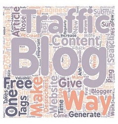 Rose Desrochers s Tips How Do You Generate Traffic vector