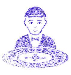 Roulette dealer icon grunge watermark vector
