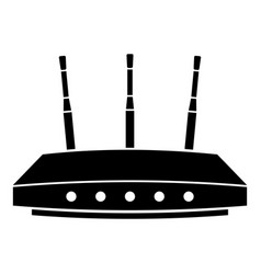 router icon simple black style vector image