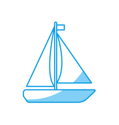 sailboat icon image vector image