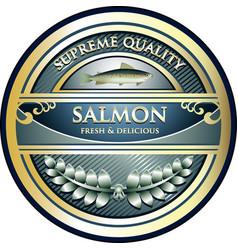 Salmon gold icon vector