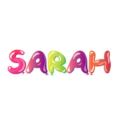 Sarah written with alphabet balloons vector