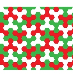 Seamless Geometric Pattern Christmas Ornament vector image