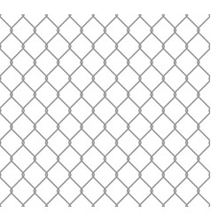 Seamless metal chain link fence wire fence vector