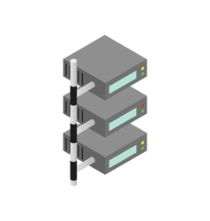 Servers icon isometric 3d style vector