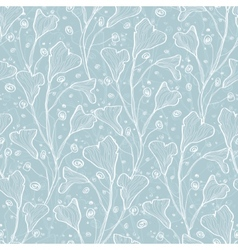Silver leaves texture seamless pattern vector