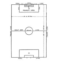 Soccer field vintage vector