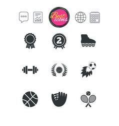 Sport games fitness icon football volleyball vector