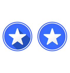 star round flat icon vector image