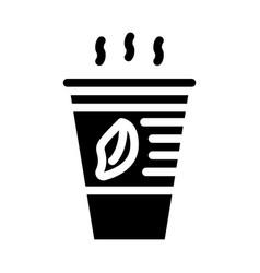 Tea smell glyph icon sign vector