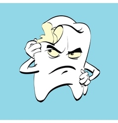The aching tooth with caries a comic book vector