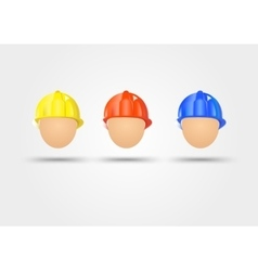 three electrical safety helmets vector image