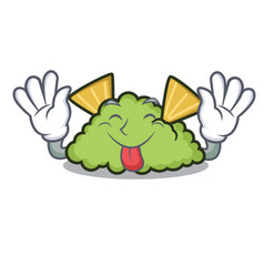 tongue out guacamole mascot cartoon style vector image