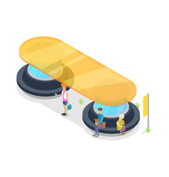 transport passenger platform isometric 3d icon vector image