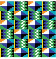 Tribal seamless textile pattern - kente vector