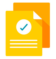 Verified document flat vector