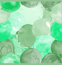 Watercolor seamless green pattern vector