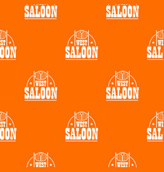 west saloon pattern orange vector image