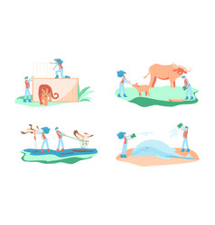 Wild animal rescue concept vector