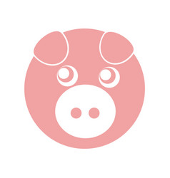 cute piggy character icon vector image vector image