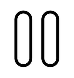 pause black color icon vector image