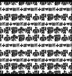 seamless maya pattern black and white vector image