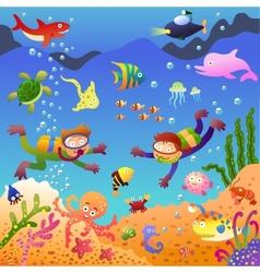 Under the sea vector