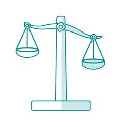 blue silhouette shading balance symbol of justice vector image