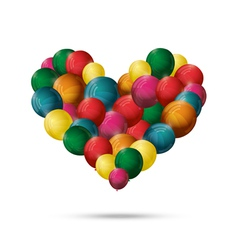 valentines heart balloons vector image vector image