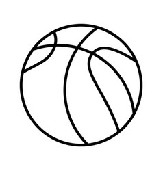 basket ball cartoon vector image vector image
