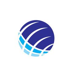 circle technology logo vector image vector image