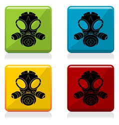 Gas mask sign buttons vector image vector image