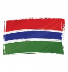 grunge gambia flag vector image