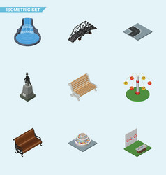 isometric architecture set of swing attraction vector image