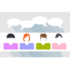 People talking vector image