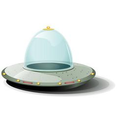 retro cartoon spaceship vector image vector image