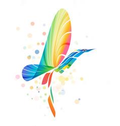 abstract colorful fantasy bird vector image