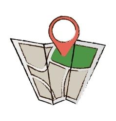 Map world pointer destination travel color sketch vector