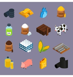 1608i039002Pm004c30commodity icons isometric vector image