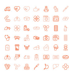 49 healthcare icons vector image