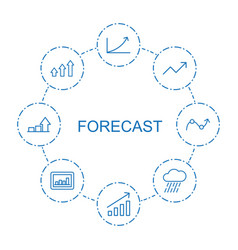 8 forecast icons vector image